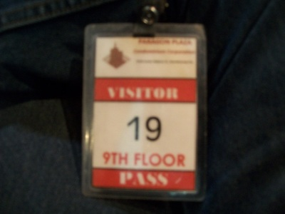 My temporary gate pass.