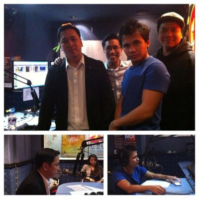 Jing Jamlang, Sponge Cola's Yael Yuzon & the crew of Resorts World (Courtesy of Play FM)